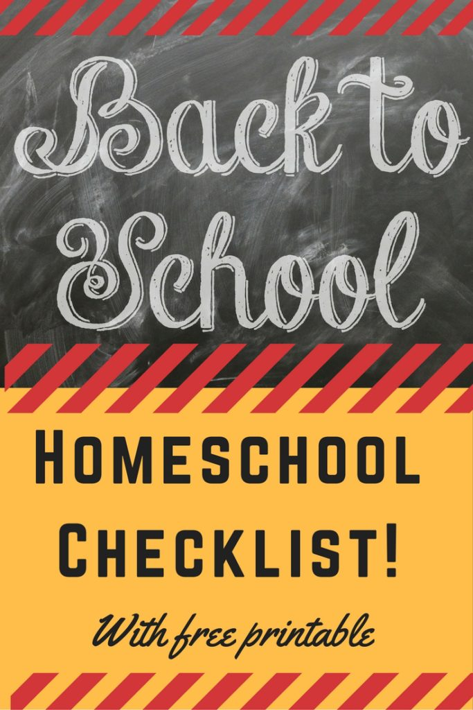 Homeschool Checklist!
