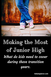 Advice for getting the most from those Junior High Years