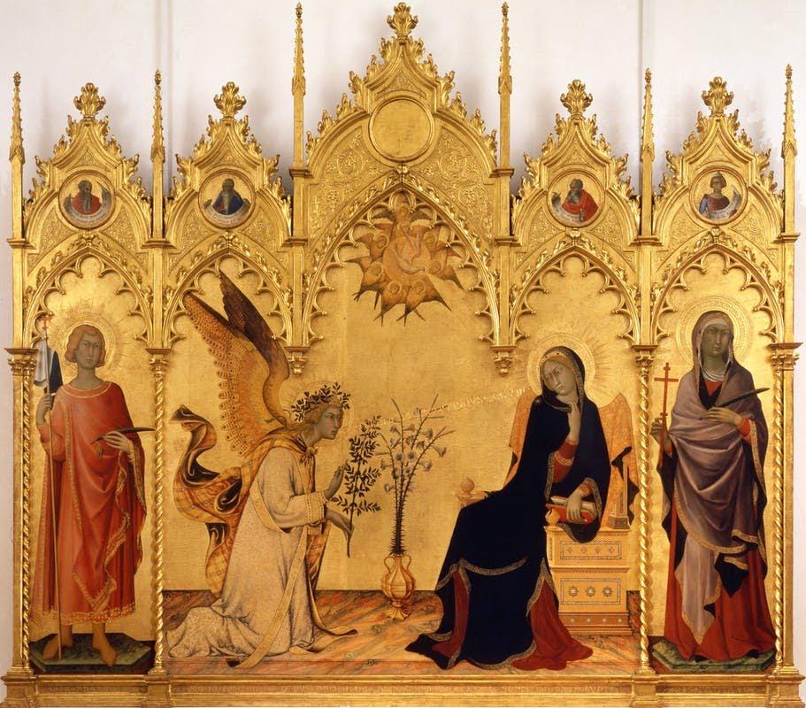Simone Martini's The Annunciation