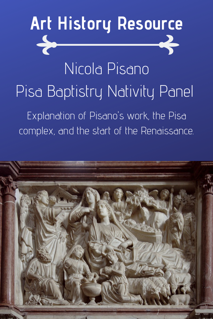 Nicola Pisano - Nativity Panel in the Baptistry in Pisa.