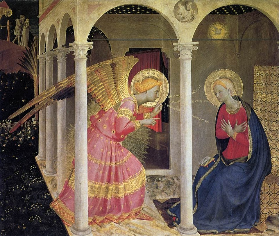 Fra Angelico's The Annunciation in the Cortona Altarpiece
