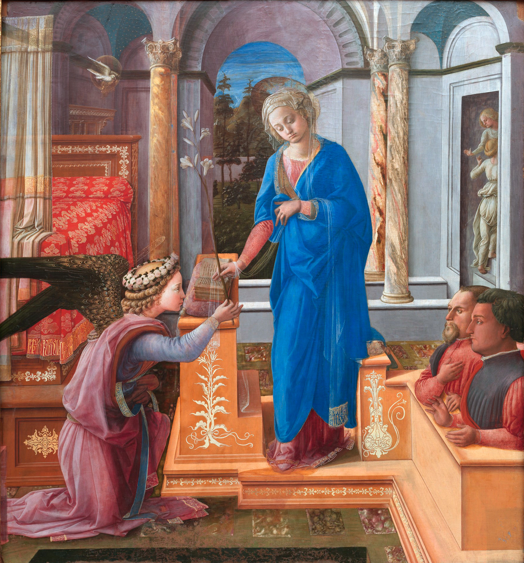 The Annunciation with Two Donors by Filippo Lippi