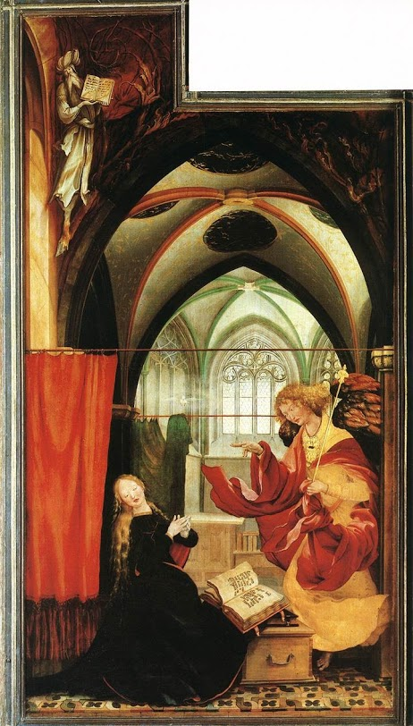 Matthias Grunwald, The Annunciation from the Isenheim Altarpiece