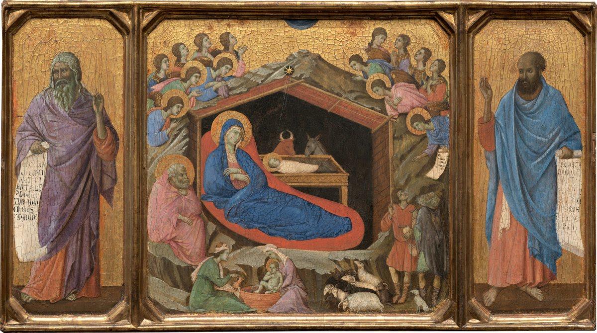 The Nativity in Duccio's Maesta.