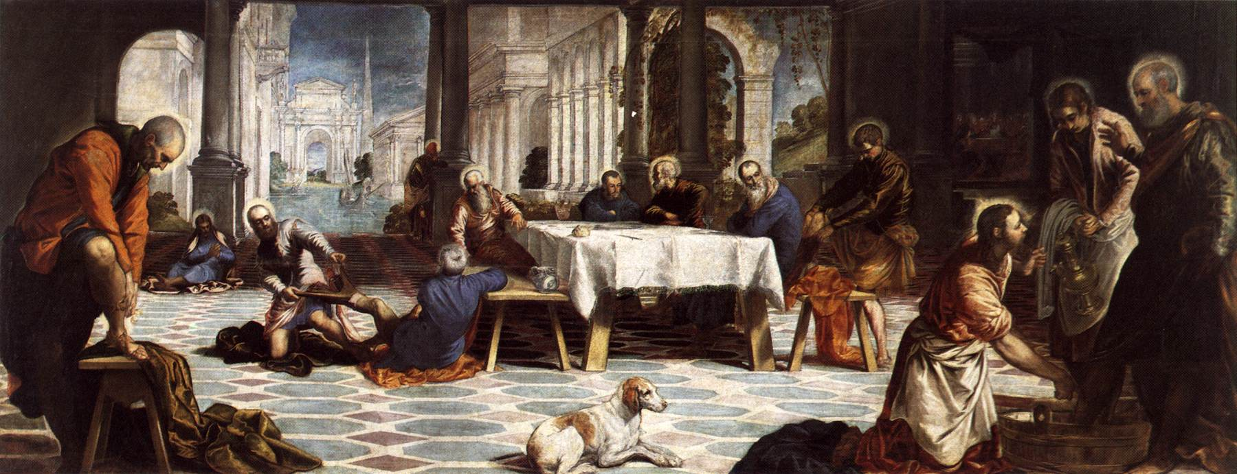 "Maundy Thursday - Tintoretto: ""Christ Washing the Disciple's Feet"""